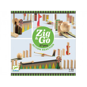 Djeco Domino Rennstrecke Zig & Go 27 Teile
