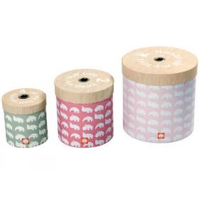 Done by Deer runde Boxen Set rosa