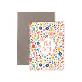 Frau Ottilie Grußkarte zum Geburtstag FÜR DICH Blumen
