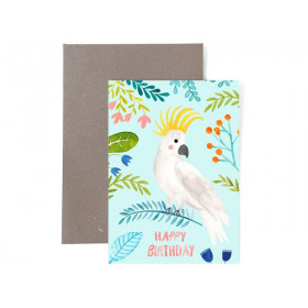 Frau Ottilie Grußkarte zum Geburtstag HAPPY BIRTHDAY Kakadu