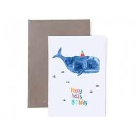 Frau Ottilie Grußkarte zum Geburtstag HAPPY BIRTHDAY Wal
