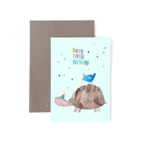 Frau Ottilie Grußkarte zum Geburtstag HAPPY BIRTHDAY Schildkröte