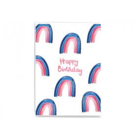 Frau Ottilie Postkarte HAPPY BIRTHDAY Regenbogen