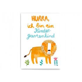 Frau Ottilie Postkarte KINDERGARTENKIND Löwe