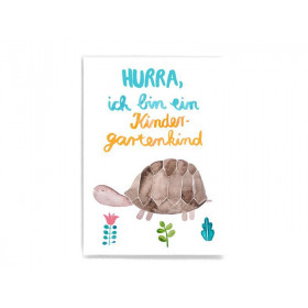 Frau Ottilie Postkarte KINDERGARTENKIND Schildkröte