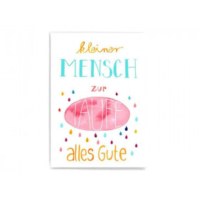 Frau Ottilie Postkarte KLEINER MENSCH, ZUR TAUFE ALLES GUTE