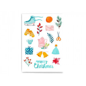 Frau Ottilie Weihnachtskarte MERRY CHRISTMAS