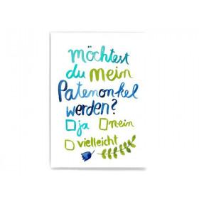 Frau Ottilie Postkarte PATENONKEL