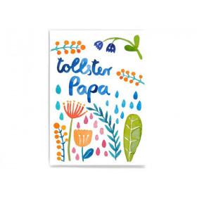 Frau Ottilie Postkarte TOLLSTER PAPA Blumen