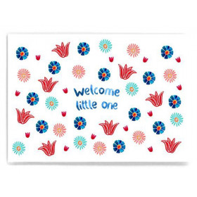 Frau Ottilie Postkarte WELCOME LITTLE ONE Blumen