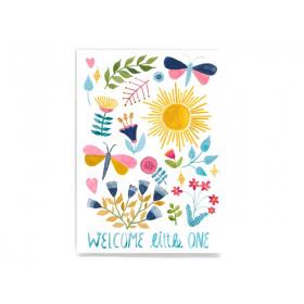 Frau Ottilie Postkarte WELCOME LITTLE ONE