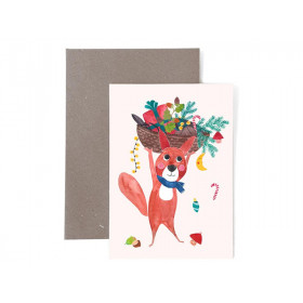 Frau Ottilie Weihnachtsgrußkarte EICHHÖRNCHEN