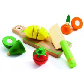 Djeco Rollenspiel Schneidebrett Obst und Gemüse