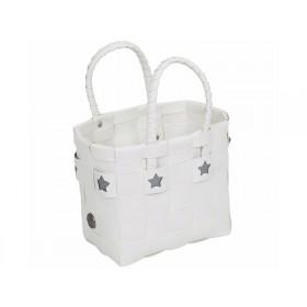 Handed By Kindertasche Sevilla Sterne weiß silbern