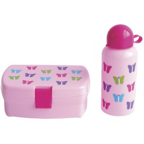 JaBaDaBaDo Lunchbox Trinkflasche Schmetterlinge