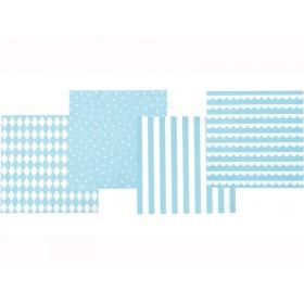JaBaDaBaDo Papierservietten hellblau-weiß