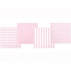 JaBaDaBaDo Papierservietten hellrosa-weiß