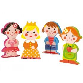 Janod Magnete Puppen