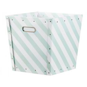Kids Concept Aufbewahrungsbox gestreift grün weiß