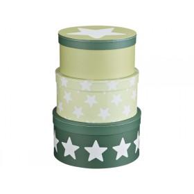 Kids Concept Pappboxen Sterne grün