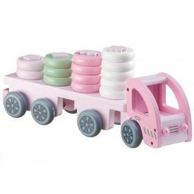 Kids Concept Ringspiel Laster rosa