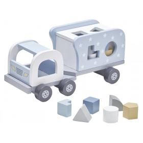 Kids Concept Steckspiel Laster blau
