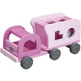 Kids Concept Steckspiel Lastwagen rosa