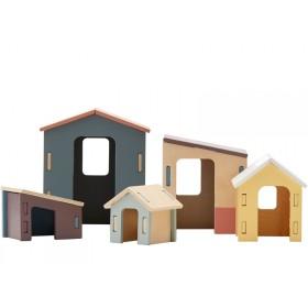 Kids Concept Steckhäuschen-Set aus Holz EDVIN