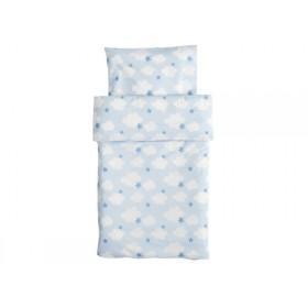 Kids Concept Baby-Bettwäsche Wolken und Sterne zartblau