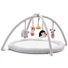 Kids Concept Aktivitäts-Spielmatte EDVIN weiß und grau