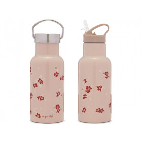 Konges Slojd Thermosflasche WINTER LEAVES DARK RED