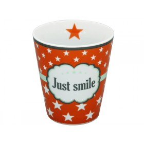 Krasilnikoff Becher Happy Mug Just smile