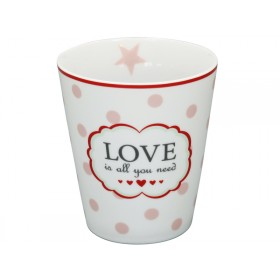 Krasilnikoff Becher Happy Mug Love is all you need weiß
