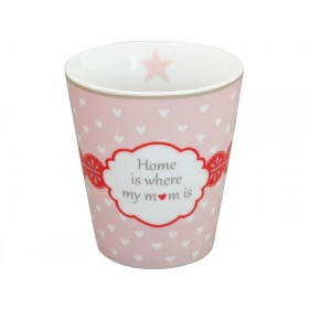 Krasilnikoff Becher Happy Mug Home is where my mom is
