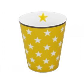 Krasilnikoff Becher Happy Mug Sterne gelb