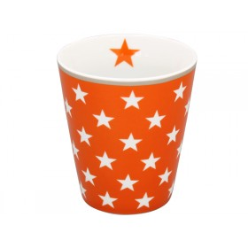 Krasilnikoff Becher Happy Mug Sterne orange