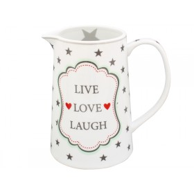 Krasilnikoff Krug Happy Jug Live Love Laugh