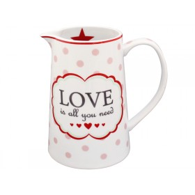 Krasilnikoff Krug Happy Jug Love is all you need