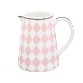 Krasilnikoff Milchkännchen Harlekin rosa