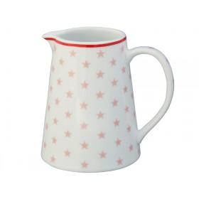 Krasilnikoff Milchkännchen Sterne rosa