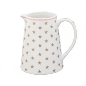 Krasilnikoff Milchkännchen Sterne taupe