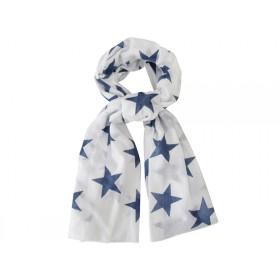Krasilnikoff Schal große Sterne indigo