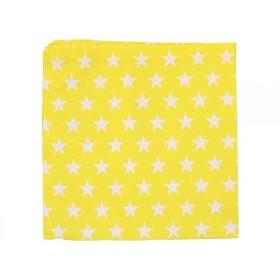 Krasilnikoff Serviette Sterne gelb
