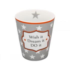 Krasilnikoff Becher Happy Mug Wish it, dream it, do it