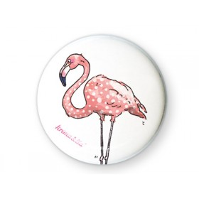 krima & isa Button FLAMINGO