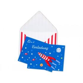 krima & isa Einladungskarten Rakete