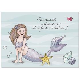 krima & isa Postkarte Mermaid Kisses & Starfish Wishes