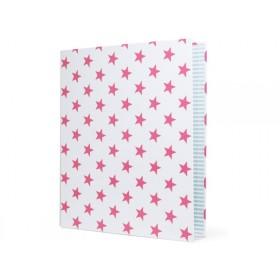 krima & isa Ringmappe weiß STERNE pink
