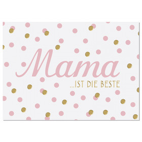"""krima & isa Postkarte """"MAMA IST DIE BESTE"""""""