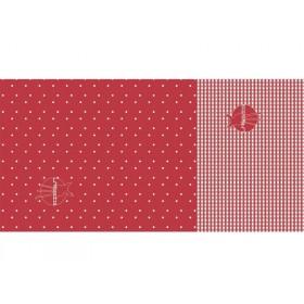 Lässig twister Baby Schal Punkte-Vichy in rot